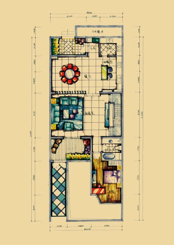 中岛式厨房设计,增大空间实用面积,餐区布局合理,尽显贵族家风.