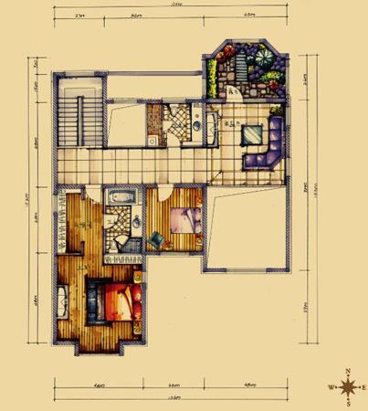 别墅凸窗基础图