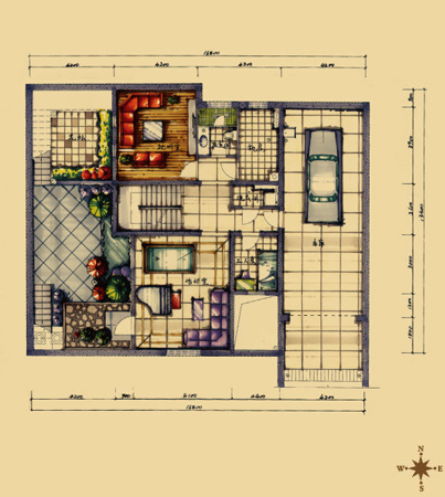 二层套间房设计图